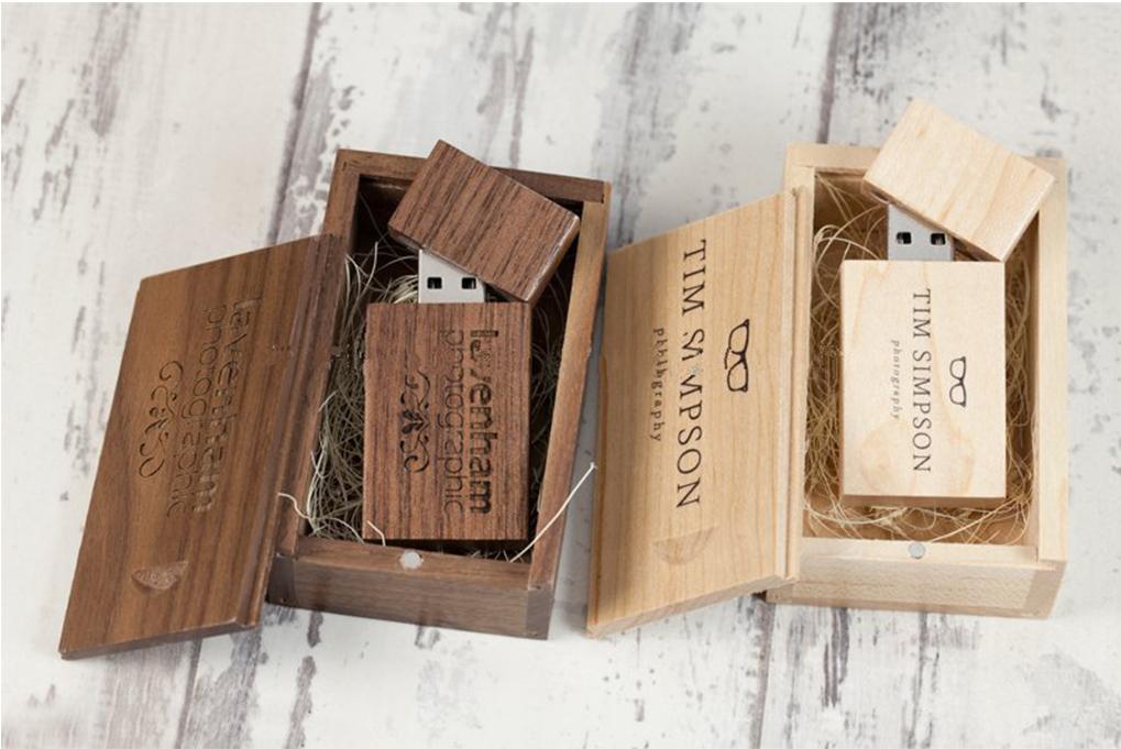 cajas madera USB