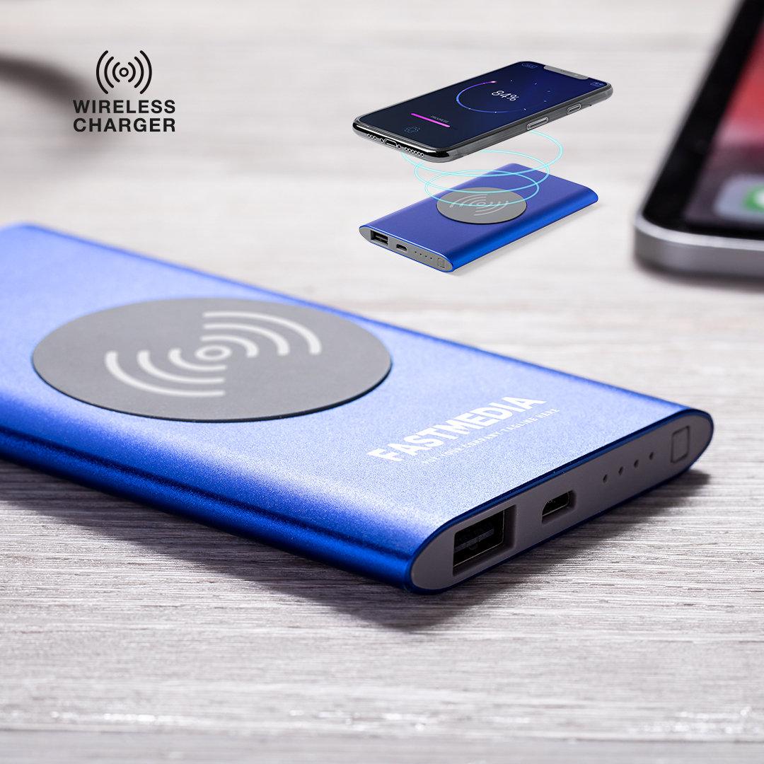 power bank personalizado wireless